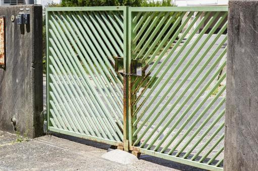 Closed school gate