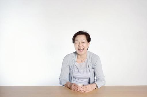 Senior woman drinking tea 2