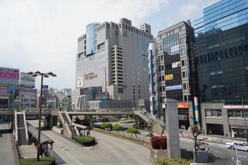 하치 오지 역 앞의 이미지 소재