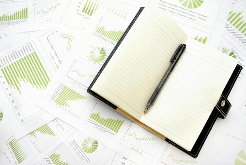 Business chart and system notebook