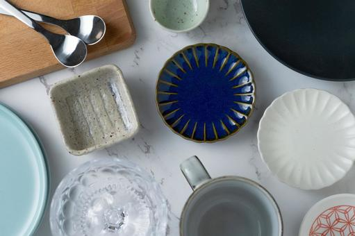The dishes