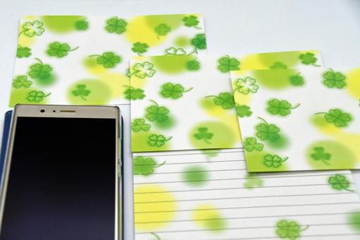 Letter set and smartphone