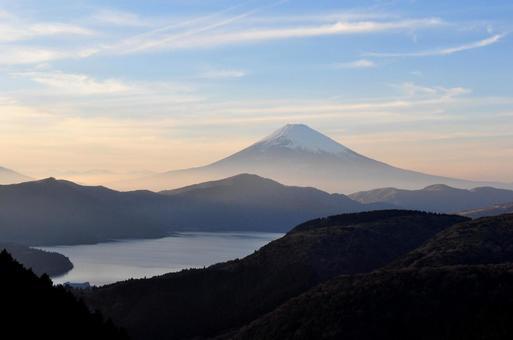 Lake Ashi and Mt. Fuji