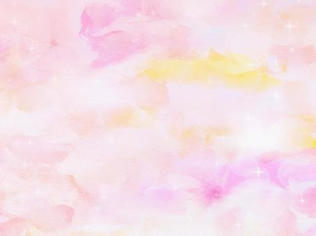 Pink watercolor background material