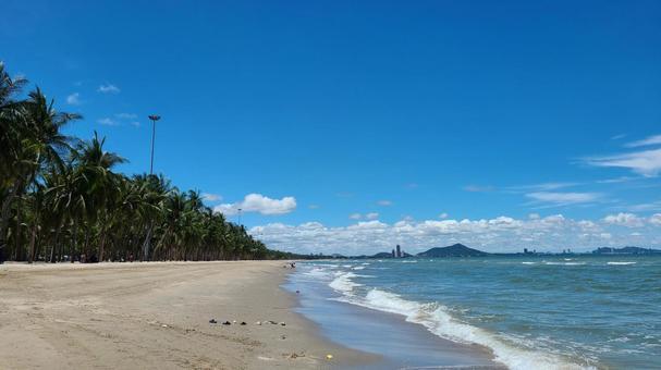 Sandy beach walk