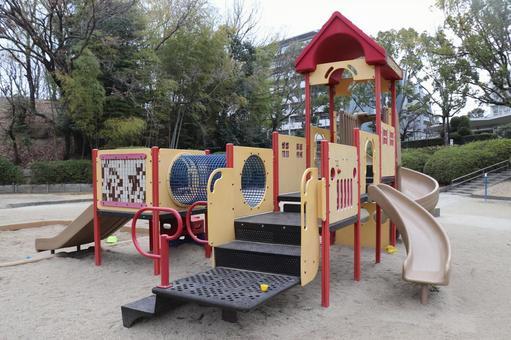 [Park] playground equipment for children, slide