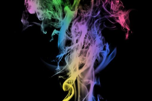 Great for pastel smoke frames Rainbow color black background