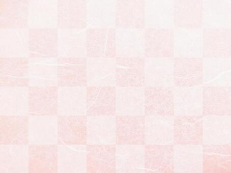 Checkered cherry blossom pink Japanese paper texture background material