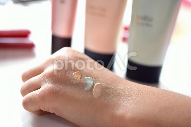 化粧下地比較の写真