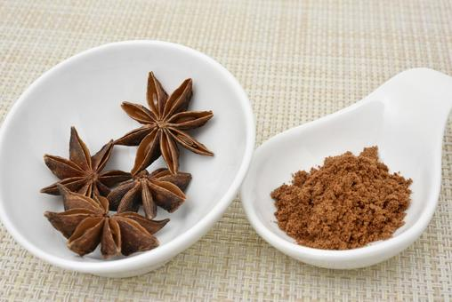 Star anise octagonal hall and powder