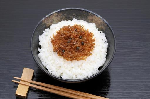 Chirimen boiled fish paste boiled in rice