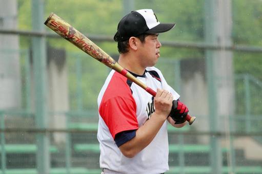 Male person baseball sports batter
