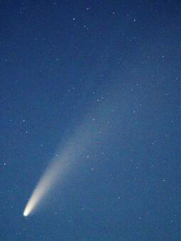 Comet Neowise in the bright evening