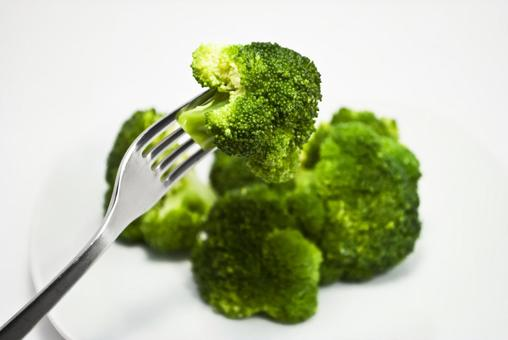 Broccoli and Fork