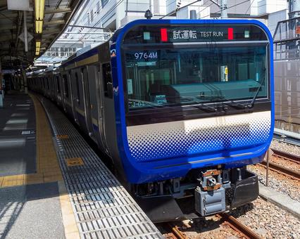 Yokosuka Line new train E235 series 15-car train / performance check test run