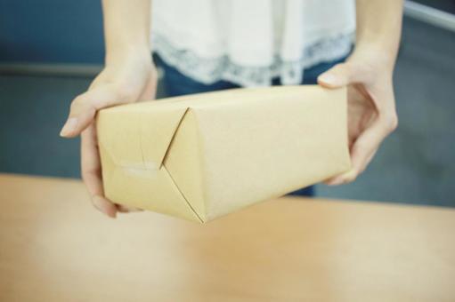Person handling parcels