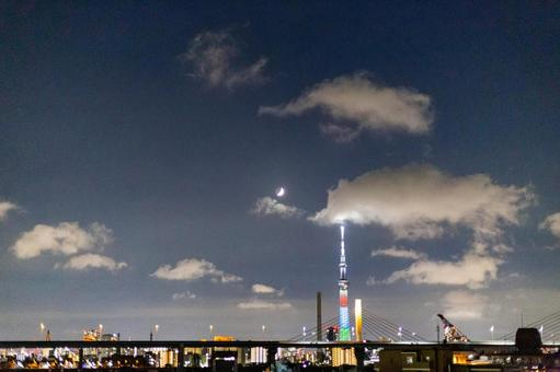 Sky Tree Tokyo Paralympics Special light up 1 year ago
