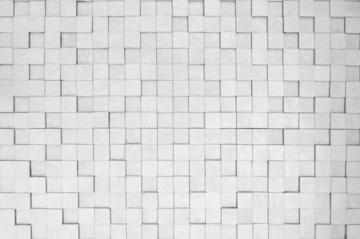 白方磚紋理背景素材