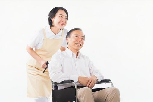 Men and nurses on a wheelchair 32