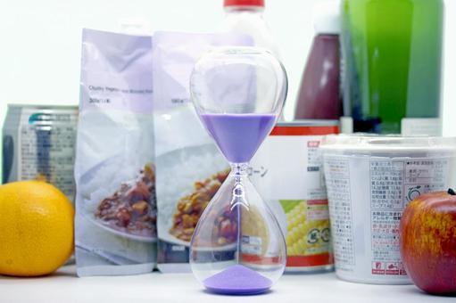 식품과 모래 시계