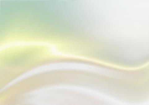 Silk / satin-like luster wave background material (yellow)