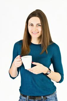 German woman with cup 1