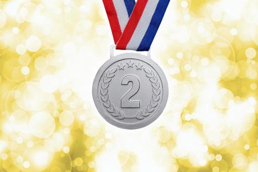 Silver medal 2nd place ranking material