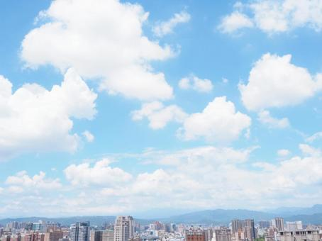 Sky and cityscape