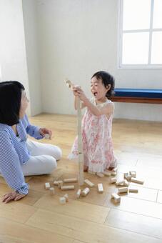 母亲和儿童积木5