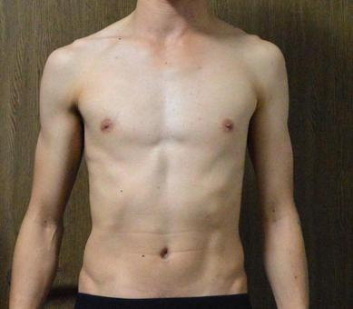 Skinny torso Human, early 30s, male, shirtless, body fat percentage 12% or less, diet