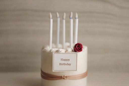 Birthday cake miniature