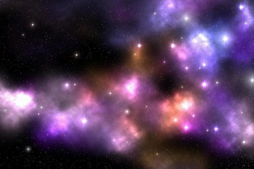 Galaxy 粉色 橙色 紫色