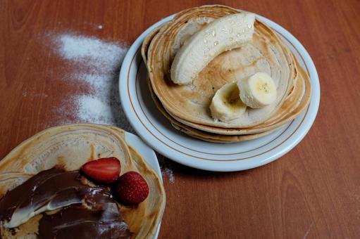 Making pancakes 82