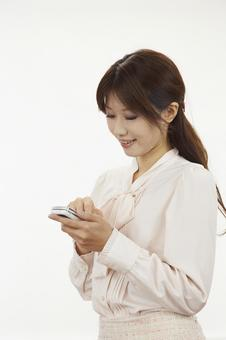 A woman with a cell phone 10
