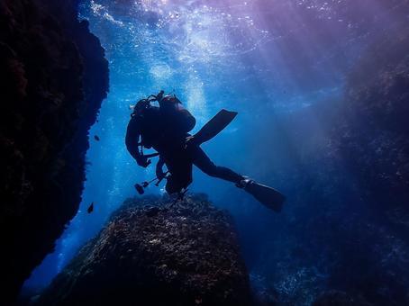 Underwater photography (cave)