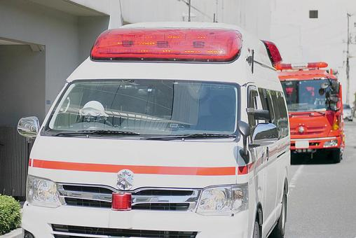Dispatch of ambulance and fire engine