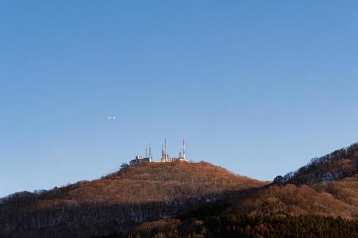 Blue sky and Mt. Hakodate