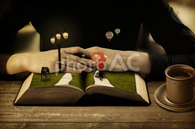 本の中の世界の写真