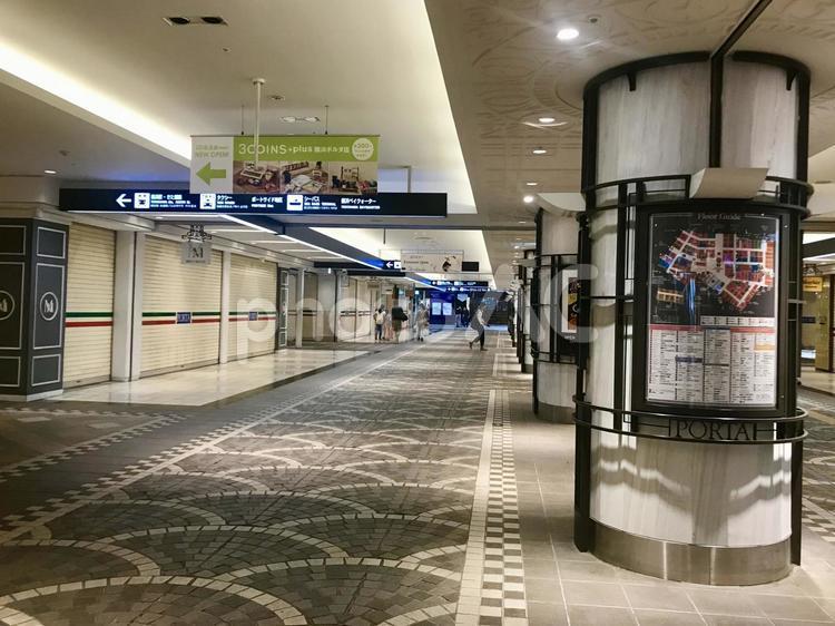 横浜駅東口の地下街の写真