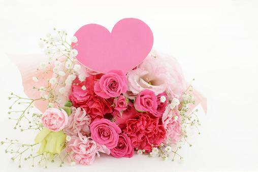 Bouquet heart symbol