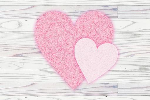 Frame, wood grain, board wall, heart