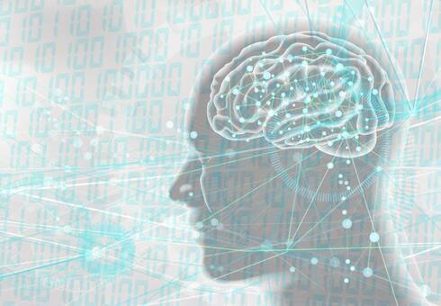 인공 지능 AI 소재 이미지 - 흰색 배경