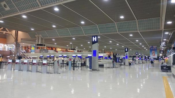 Narita Airport check-in counter