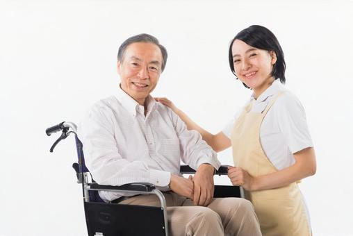 Men with wheelchairs and caregivers 14