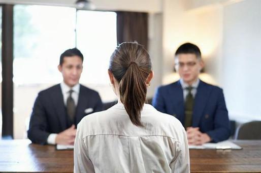 비즈니스 캐주얼 면접 아시아 여성 비즈니스 우먼