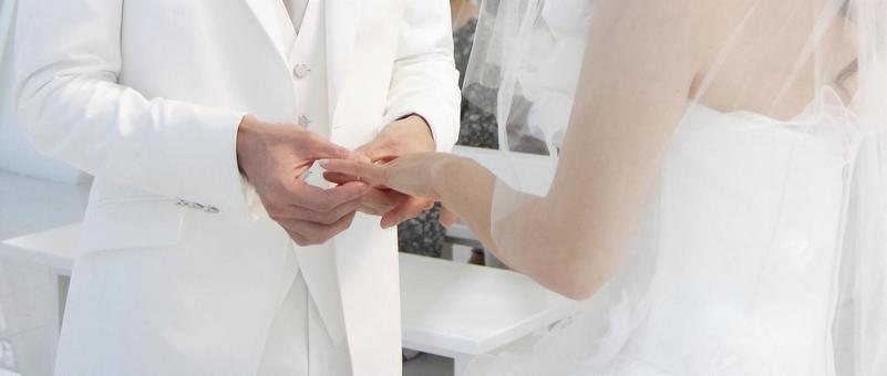 Wedding ring exchange image ceremony