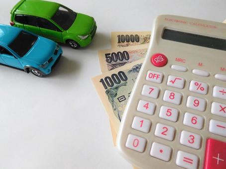 Car and calculator (money for a car)