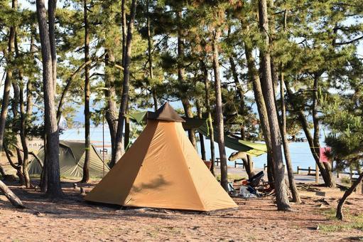 해변 캠프장
