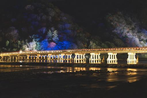 Togetsu Bridge Illuminated