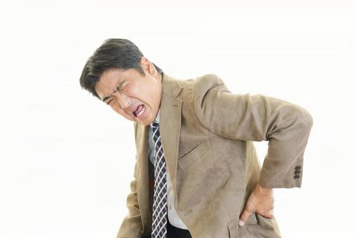 A man complaining of back pain